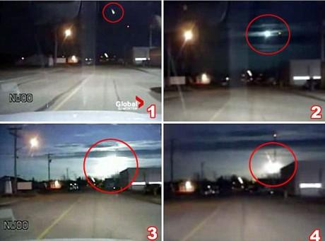 Queda de meteoro é filmado no Canadá